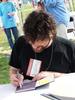 an autograph from Neil Gaiman
